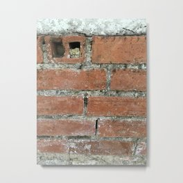 Beat Up Brick Metal Print