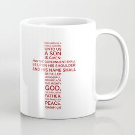 Unto Us - Cross Scripture RED Coffee Mug
