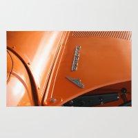 porsche Area & Throw Rugs featuring Allgaier Porsche by Christine baessler