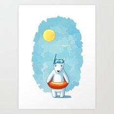 Polar Beach Art Print
