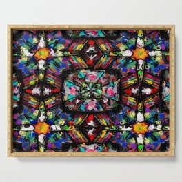 Ecuadorian Stained Glass 0760 Serving Tray