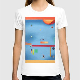 living in space. abstract T-shirt