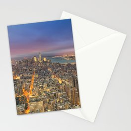 New York City Skyline Sunrise Stationery Cards