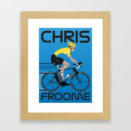 Chris Froome Yellow Jersey Framed Art Print