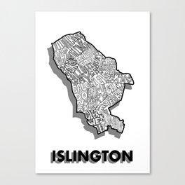 Islington - London Borough - Simple Canvas Print