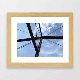From the bridge, looking up Framed Art Print