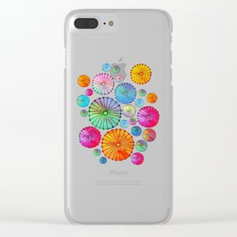 Coctail Umbrellas - Summer Memories Clear iPhone Case