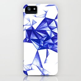 Blue Cristal iPhone Case