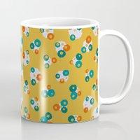 yellow pattern Mugs featuring Yellow by Alisa Galitsyna