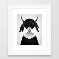 Framed Art Prints featuring The Mound II (Hallway Crop) by Ruben Ireland