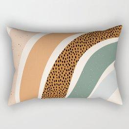 Patterned Rainbow Rectangular Pillow