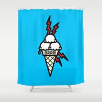 gucci Shower Curtains featuring Brrrr by MSTRMIND