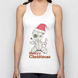 Merry Christmas Voodoo Doll Unisex Tank Top
