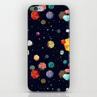 low poly iPhone & iPod Skins featuring Low Poly Space by Evan Smith