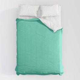 Aqua Blue Solid Color Comforters