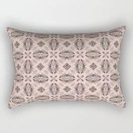 Pale Dogwood Diamond Floral Rectangular Pillow