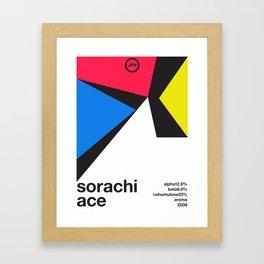 sorachi ace color variant 1 single hop (2018) Framed Art Print