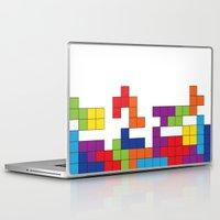 tetris Laptop & iPad Skins featuring Tetris by Jennifer Agu