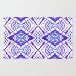 Dye Diamond Iridescent Blue Rug