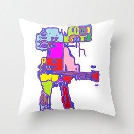 Guitarman Throw Pillow