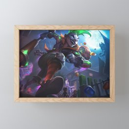 Trick Or Treat Ekko League of Legends Framed Mini Art Print