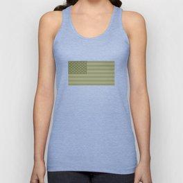 Camo Stars and Stripes – USA Flag in Military Camouflage Colors [FalseFlag 1] Unisex Tank Top