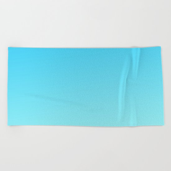 Simply sea blue teal color gradient - Mix and Match with Simplicity of Life Beach Towel