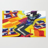 trumpet Area & Throw Rugs featuring Trumpet Man by Myles Hunt