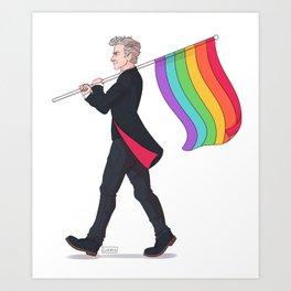 Time Lord Pride Art Print