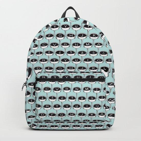 Infinite Typewriter_Mint Backpack
