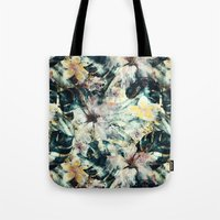 hibiscus Tote Bags featuring Hibiscus by RIZA PEKER