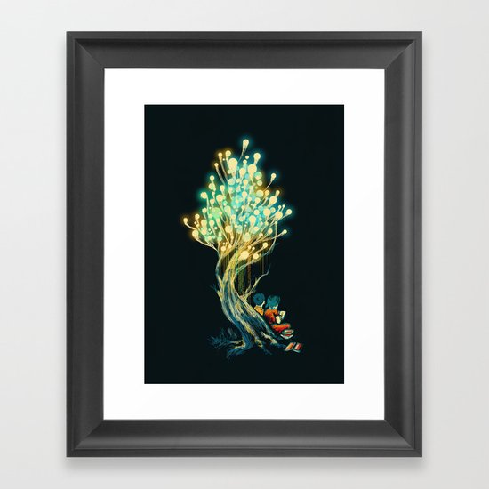 ElectriciTree Framed Art Print