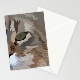 Geometric Fierce Cat Digitally Created Stationery Cards