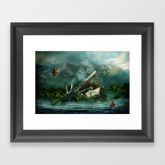 the high flyer Framed Art Print