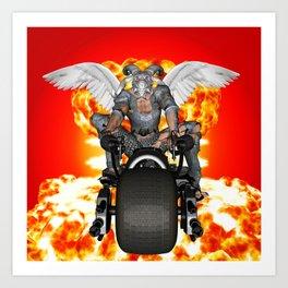 Biker of the Apocalypse-Conquest Art Print