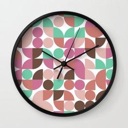 Playful Geometric Pattern Spring Wall Clock