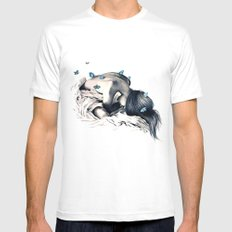 Bodysnatchers  MEDIUM White Mens Fitted Tee