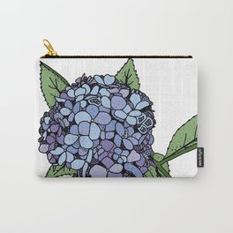 Hydrangea Blue Carry-All Pouch