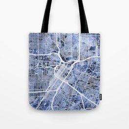 Houston Texas City Street Map Tote Bag