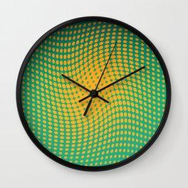 Polka dots with a twist Wall Clock