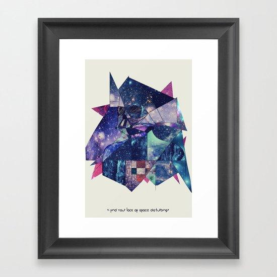 """I Find Your Lack of Space Disturbing"" Framed Art Print"