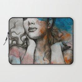 Pillars   nude busty woman realistic portrait Laptop Sleeve