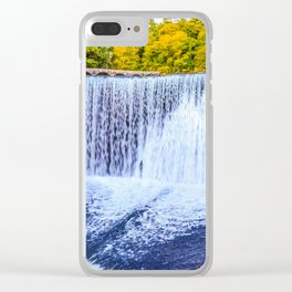 Monk's waterfall Clear iPhone Case