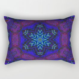 Bioluminescent Tribal Lotus Rectangular Pillow