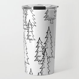 Lost in the wood, a lonely cabin Travel Mug