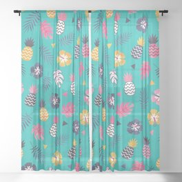 FOREVER SUMMER on MINT Sheer Curtain