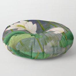 Lotus flowers C - Minhwa-Korean traditional/folk art Edit Floor Pillow