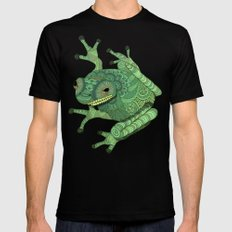 Tree Frog Mens Fitted Tee MEDIUM Black