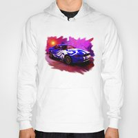 mustang Hoodies featuring Wild Mustang by JT Digital Art