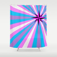 anarchy Shower Curtains featuring Queer Trans Anarchy Flag by Wolfy